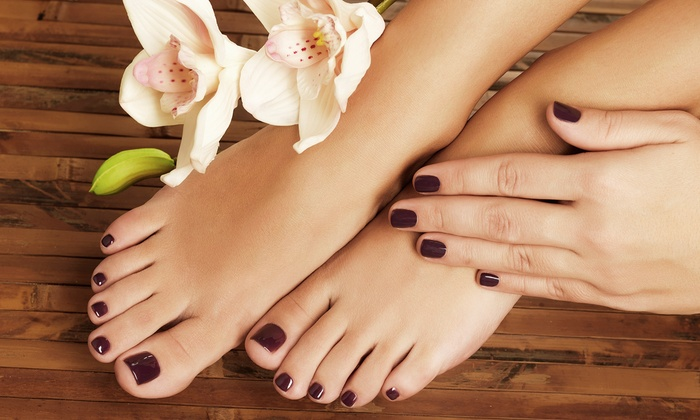 Amazing Grace Beauty Salon - George Mason: One or Three Mani-Pedis at Amazing Grace Beauty Salon (Up to 56% Off)