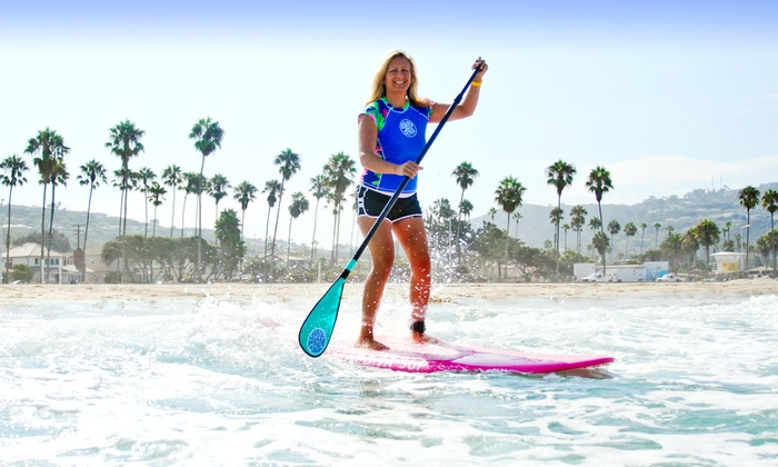 Surf Diva - La Jolla Shores: Half-Day Standup-Paddleboard or Surfboard Rental, or a Surf Clinic or Lesson at Surf Diva (Up to 52% Off)