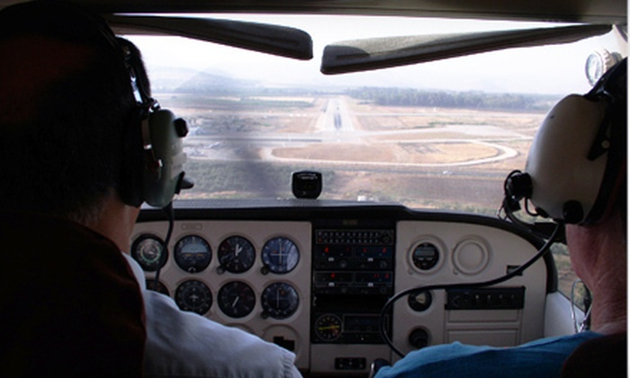 International Pilot Academy - Ottawa: Pilot for a Day Experience with 45-Minute Flight at International Pilot Academy in Carp (Up to Half Off). Two Options Available.