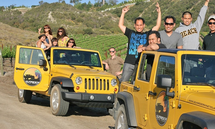 Sunrider Wine Tours - Old Town Temecula: Jeep Beer or Wine Tour for Two, Four, or Six from Sunrider Wine Tours (Up to 51% Off)
