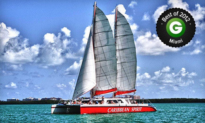 Tropical Sailing - Bayside Marketplace and Marina: $25 for a Two-Hour Cast Away the Day Champagne Sunset Cruise for One from Tropical Sailing ($50 Value)