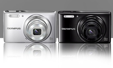 Olympus 14MP 5x Zoom Digital Camera (VG-165) in Black or Silver. Free Returns.