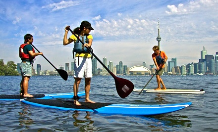 Paddleboard Class and Rentals for One, Two, Three, or Four at Harbourfront Canoe and Kayak Centre (Up to 58% Off)