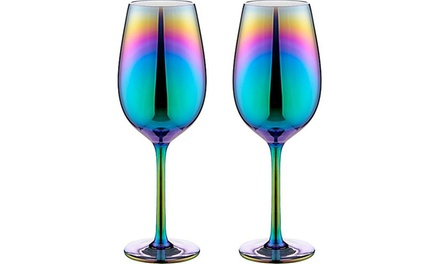 Luxury Rainbow Wine Glasses