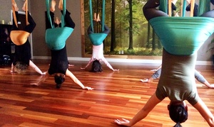Uplift Yoga & Sound Healing Arts: Three or Five Aerial-Yoga Classes at Uplift Yoga & Sound Healing Arts (Up to 53% Off)
