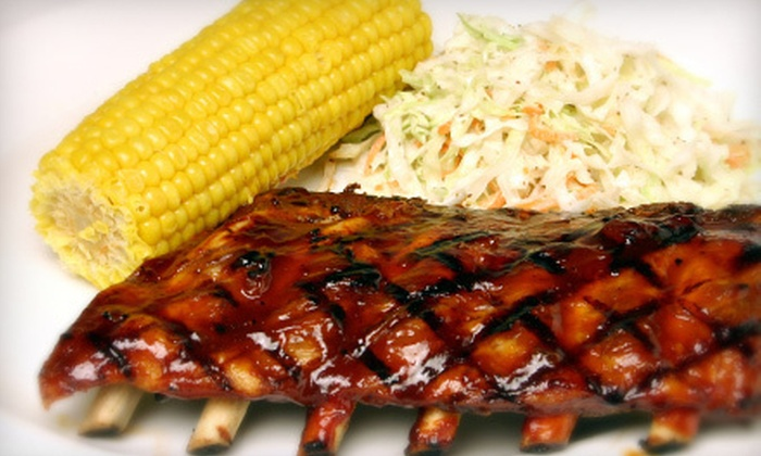 BubbaQue's - Multiple Locations: $14 for a Barbeque Meal with Appetizer, Entrees, and Sodas for Two at BubbaQue's (Up to $28.45 Value)