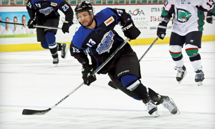 Wichita Thunder - Lawrence-Dumont Stadium: Wichita Thunder Hockey Game for Two or Four at Intrust Bank Arena on Friday, March 8, at 7:05 p.m. (Up to 52% Off)