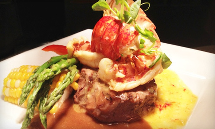 Steeples Bar & Grill - Shawnigan Lake: Three-Course Dining Experience for Two or Four at Steeples Bar & Grill (Up to 57% Off)