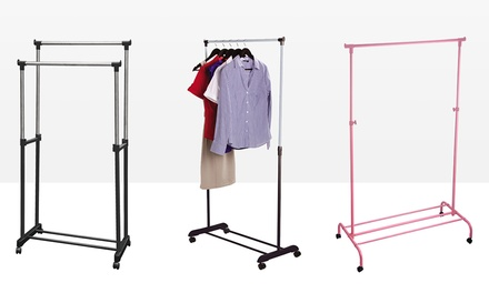 One or Two Single or Double Garment Racks (£9.98-£29.99)