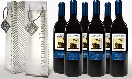 The Flying Winemaker Zinfandel (6-Pack) and Two Bonus Gift Bags