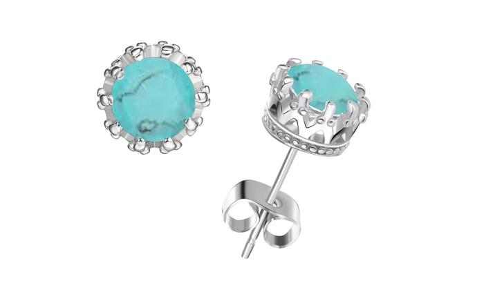 2 Cttw Genuine Turquoise Earring Groupon Goods