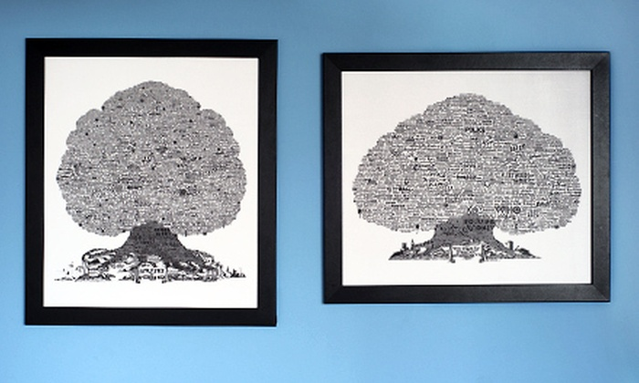 $39 for a Framed Burton Music-History Tree | Groupon