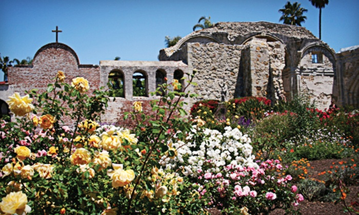 Mission San Juan Capistrano - San Juan Capistrano: Visit for Two or Four Adults to Mission San Juan Capistrano (Half Off)