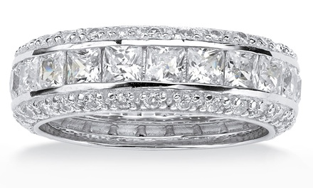 Inside Out Eternity Band with Cubic Zirconia