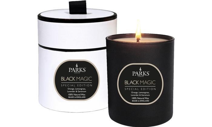 parks london black magic candle groupon goods. Black Bedroom Furniture Sets. Home Design Ideas