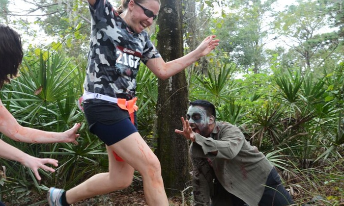 The 5k Zombie Run - Tampa - Lake Park (SW corner of Dale Mabry & Van Dyke): Runner or Zombie Admission to The 5k Zombie Run – Tampa, Presented by MOR on Saturday, November 14 (42% Off)