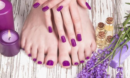 Gel Manicure and Optional Regular Pedicure, or Manicure and Pedicure at Bonjour Ca Va Day <strong>Spa</strong> (Up to 45% Off)