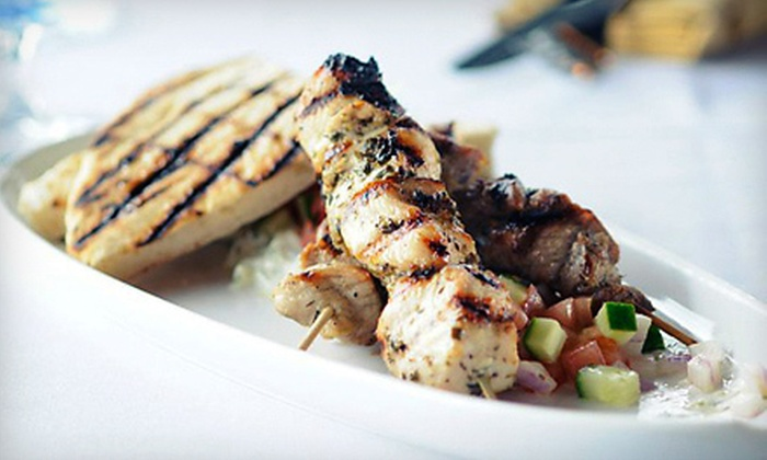 Nu Greek - Fairview: Greek Dinner for One or Two at Nu Greek (Half Off)