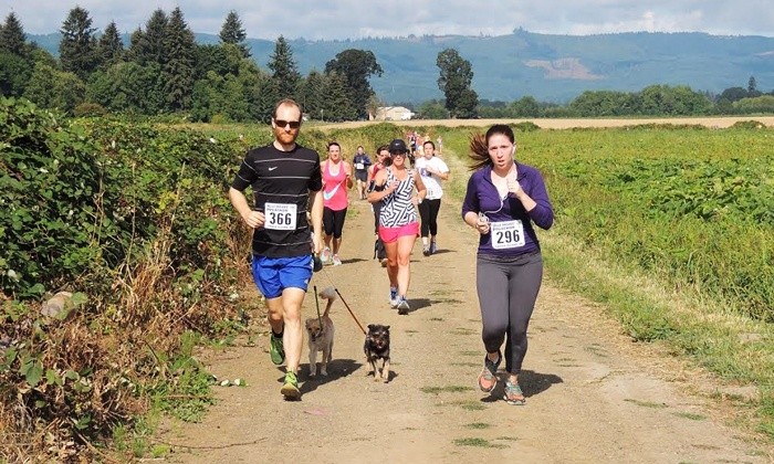 Bella Organic Pumpkin Patch - Sauvie Island:  for One Entry to The Race for Little Hearts 5K on August 30 (Up to  Value)
