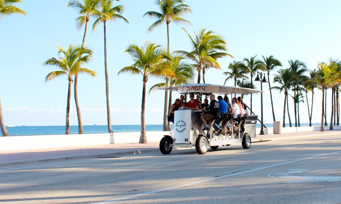 Cycle Party - Fort Lauderdale: Four or Eight Seats on a Two-Hour Party-Bike Pub Crawl from Cycle Party (50% Off)