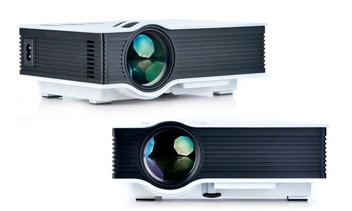 Portable hd mini projector groupon goods for Pocket projector deals