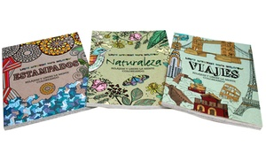 Spanish Adult Coloring Books (3-Pack)   Groupon