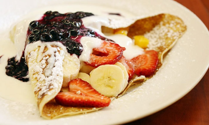 Aloha Crepes - Aiea: $25.99 for a 5-Visit Punch Card for Dessert Crepes and Snowflake Combosat Aloha Crepes ($50 Value)