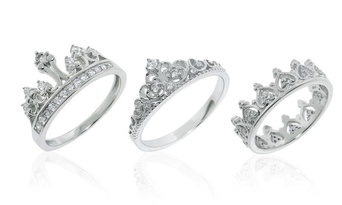 Sterling Silver Royal Crown Rings: Sterling Silver Royal Crown Rings. Multiple Styles Available.