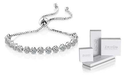 One or Two Zircondia Solitaire Crystal Friendship Bracelets