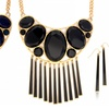 18K Gold Plated Oval Statement Necklace & Earring Set