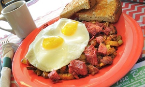 Best Breakfast and Sandwiches Restaurant: Breakfast or Lunch Cuisine at Best Breakfast and Sandwiches Restaurant (Up to 45% Off). Two Options Available.