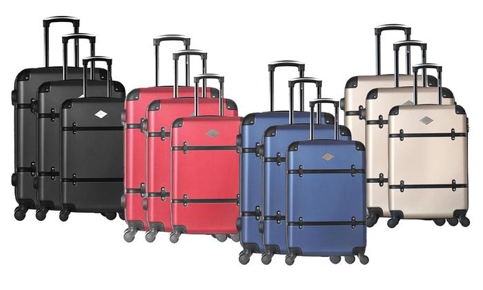Set of Three Marguerite Suitcases