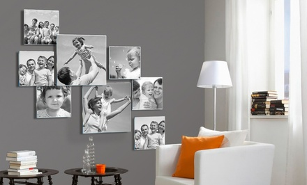 3-, 5, or 6-Piece Personalized Photo to Acrylic Glass Collage from Pixtac from $39.99–$79.90