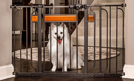 Home Accents Extra Wide Walk-Thru Pet Gate