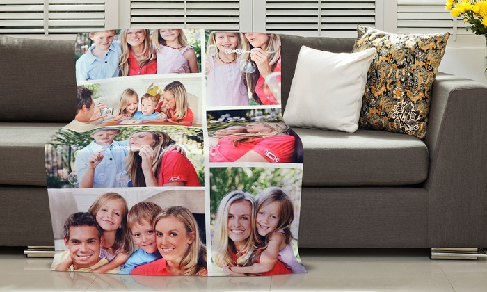 Dinkleboo: Photo Collage Blanket or Custom Play Blanket from Dinkleboo (Up to 86% Off)