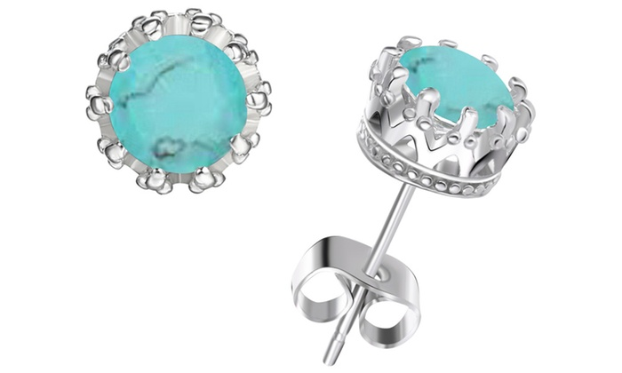 x gemstone power studs stud g genuine turquoise