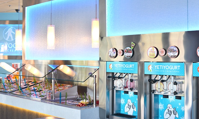 Yeti Yogurt SFU and North Vancouver - Multiple Locations: C$12 for Four Groupons, Each Good for $5 Worth of Frozen Yogurt at Yeti Yogurt (C$20 Total Value)