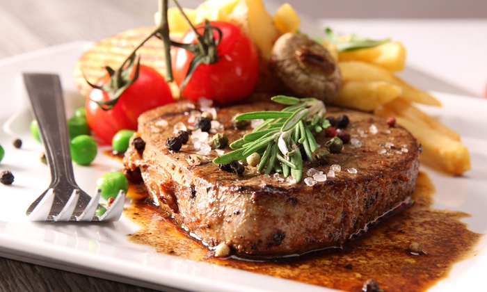 Statler Grill - Chelsea: Four-Course Steak-House Dinner for Two or Four with Wine at Statler Grill (Up to 59% Off)