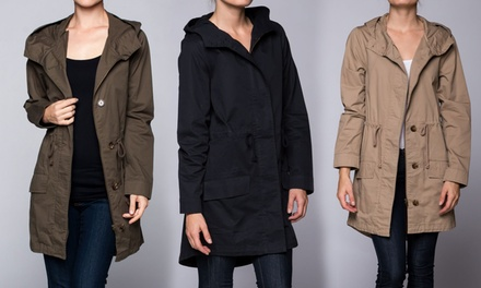 Hooded Trench Raincoat