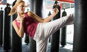 Studio Kicks Training Center: Cardio Kickboxing or Martial Arts Classes at Studio Kicks Training Center (Up to 82% Off). Three Options Available.