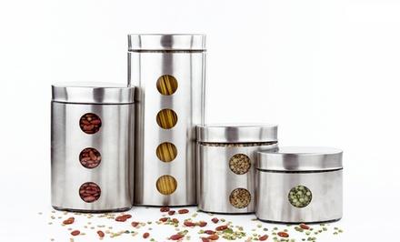 Kitchen canister sets groupon goods for Kitchen set groupon