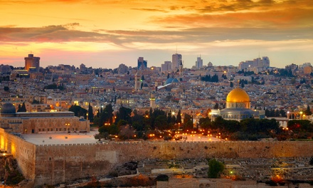 ✈ 9-Day Israel Tour with Airfare from Gate 1 Travel. Price per Person Based on Double Occupancy (Buy 1 Groupon/Person).