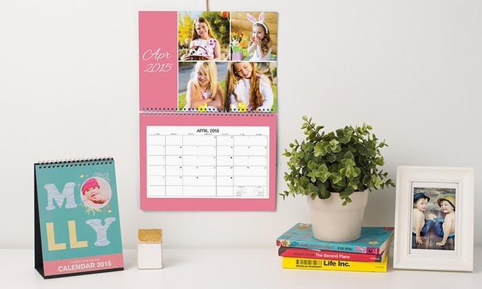 Custom Wall Calendars Groupon Goods