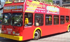 City Sightseeing San Antonio: Double Decker Bus Tour for Two, Four, Six, Ten or a Family of Five from City Sightseeing San Antonio (Up to 57% Off)