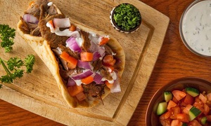 Shish Wraps: $13 for Two Groupons, Each Good for $10 Worth of Mediterranean Food at Shish Wraps ($20 Total Value)