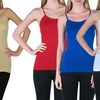 10-Pack of Women's Long Seamless Camis