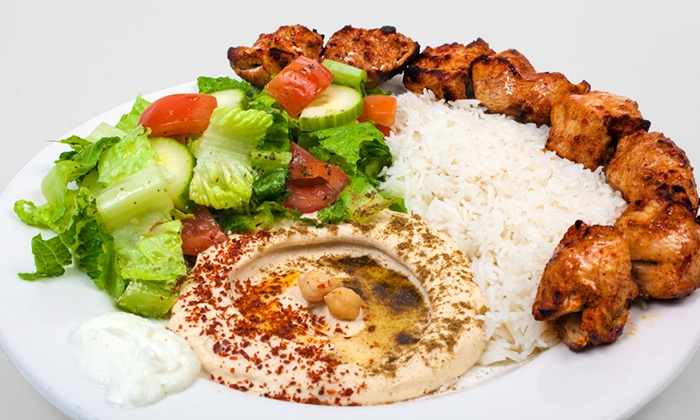 Mediterranean food the hummus factory groupon for Almanara mediterranean cuisine