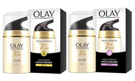 Olay Total Effects Products: Day or Night Cream, Moisturiser and Serum Duo or Day and Night Cream Duo
