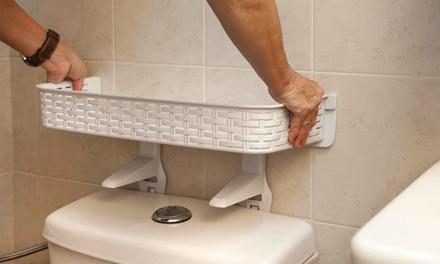 פטנט אחסון לשירותים: מדף ניאגרה צף המקנה אחיזה טובה, לאחסון מוצרי טואלטיקה ללא צורך בברגים, רק ב-45 ₪
