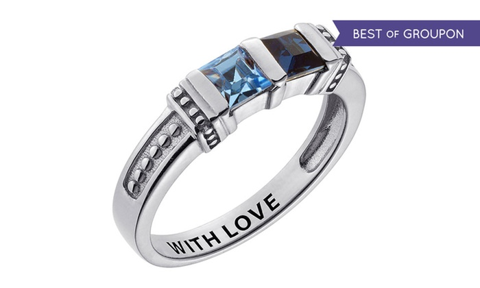 Limogès Jewelry: $29.99 for a Personalized Sterling-Silver Mother's Birthstone Ring from Limogés Jewelry ($69.99 Value)